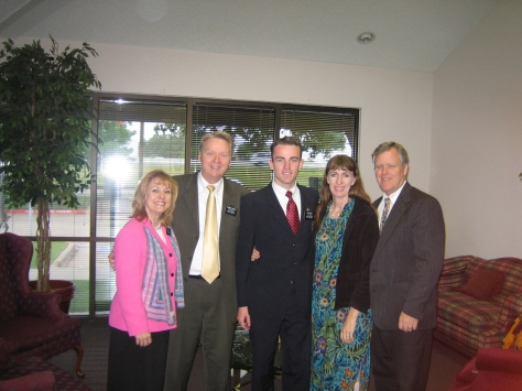 ELDER KC WITH PARENTS AND MISSION PRES