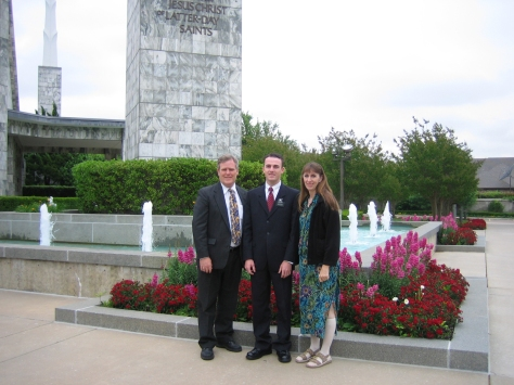 KC WITH MOM AND DAD AT DALLAS TEMPLE